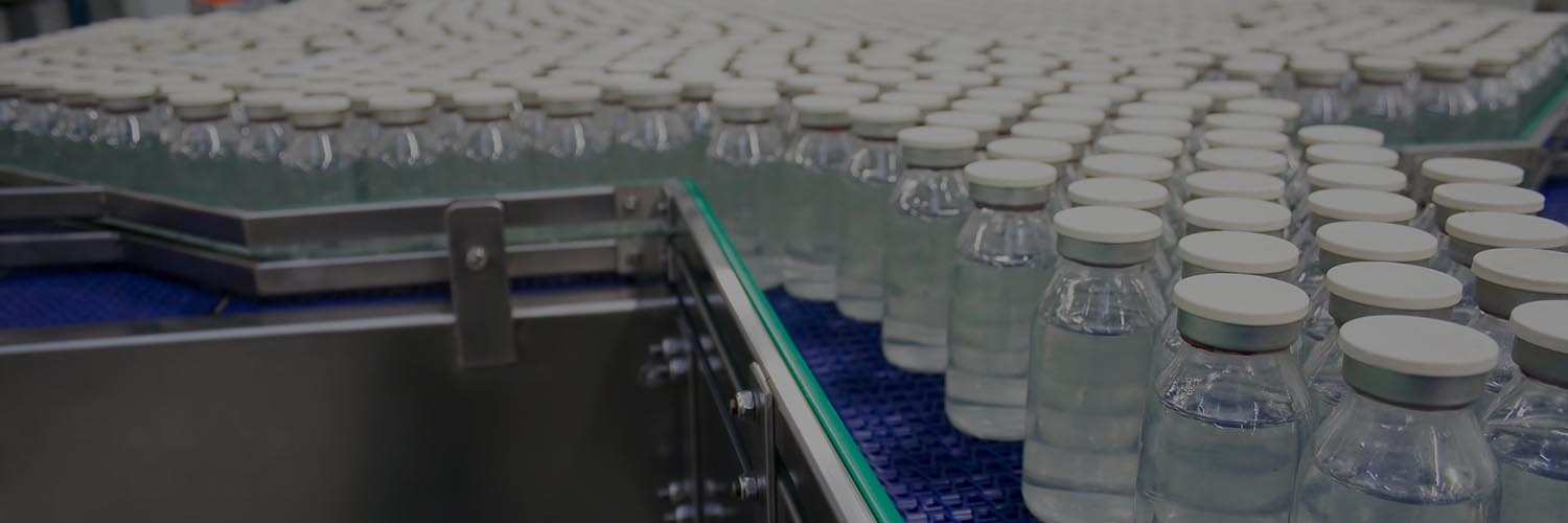 Medical Bottles in a Pharmaceutical Plant